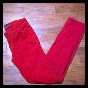 Prana Red Corduroy Skinny Jeans